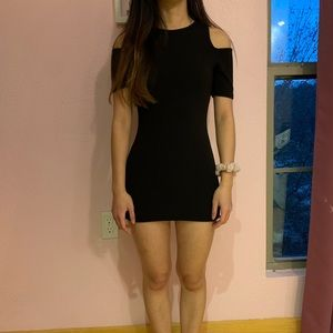 Black Bodycon off shoulder dress